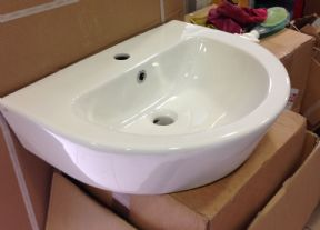 Pura Arco 550x 420mm Basin with 1 Tap Hole L1088C